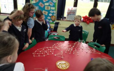 Making Shape Sculptures with Marshmallows