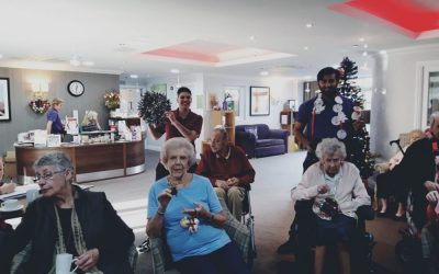 Handmade Christmas Decorations Greatly Received By The Care Home.