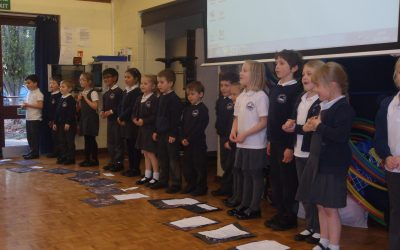 Woodpecker Class Share 'Wow Work' With Friends and Family In Class Assembly.